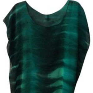 BECCA TUNIC SWIM COVER-UP IN EMERAL GREEN NWOT